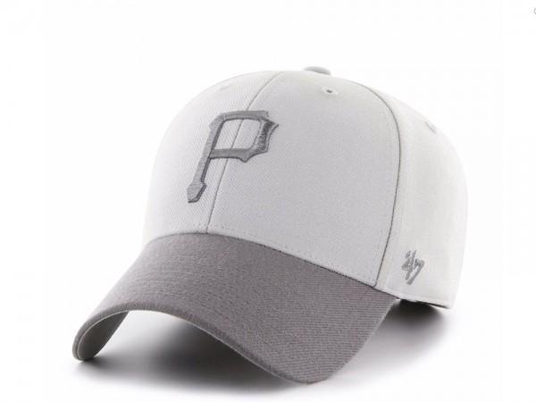47Brand Pittsburgh Pirates Steel Grey MVP Snapback Cap