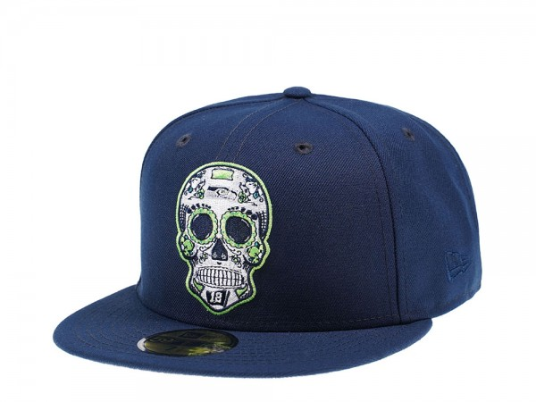 New Era Seattle Seahawks Skull Edition 59Fifty Fitted Cap