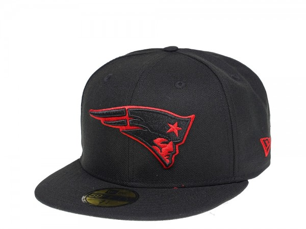 New Era New England Patriots Black Scarlet Edition 59Fifty Fitted Cap