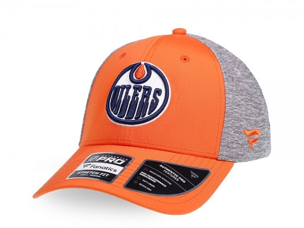 Fanatics Edmonton Oilers Locker Room Stretch Fit Cap