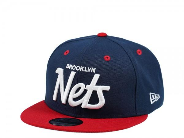 New Era Brooklyn Nets Script Edition 9Fifty Snapback Cap