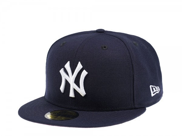 New Era New York Yankees Navy and Pink 59Fifty Fitted Cap