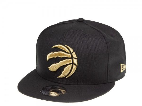 New Era Toronto Raptors Black and Gold 9Fifty Snapback Cap