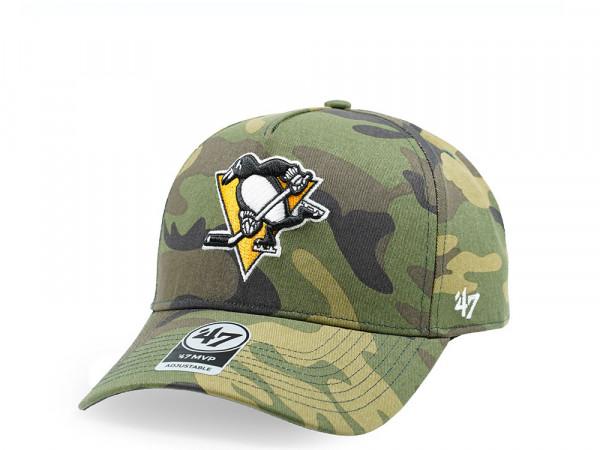 47Brand Pittsburgh Penguins Camo Grove MVP DT Snapback Cap