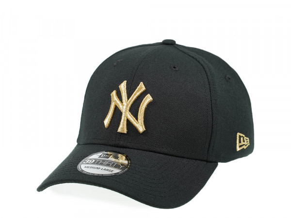 New Era New York Yankees All about Black and Gold Edition 39Thirty Stretch Cap