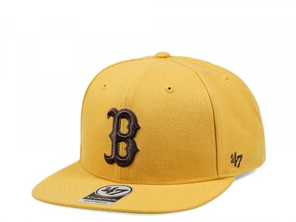 47Brand Boston Red Sox Wheat No Shot Captain Snapback Cap