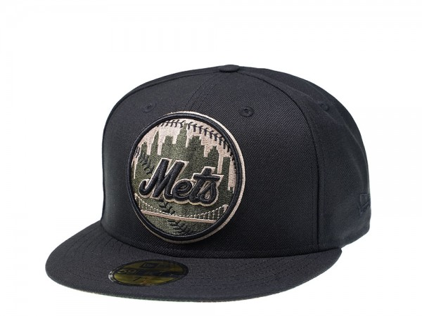 New Era New York Mets Black and Camo Edition 59Fifty Fitted Cap