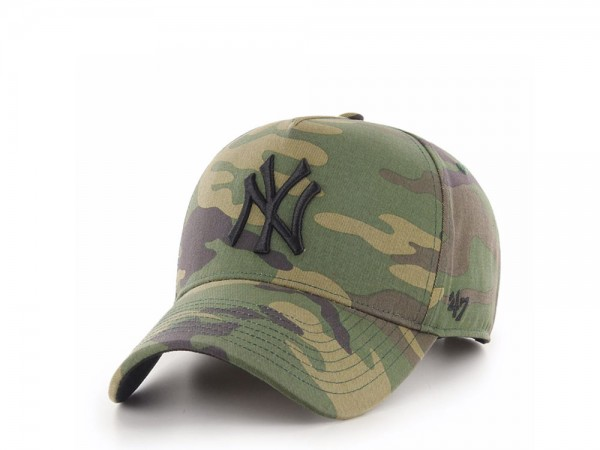 47Brand New York Yankees Camo Grove MVP DT Snapback Cap