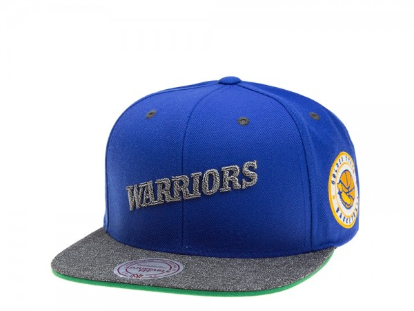Mitchell & Ness Golden State Warriors Melange Patch Snapback Cap