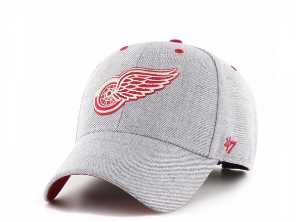47brand Detroit Red Wings Storm Cloud MVP Strapback Cap