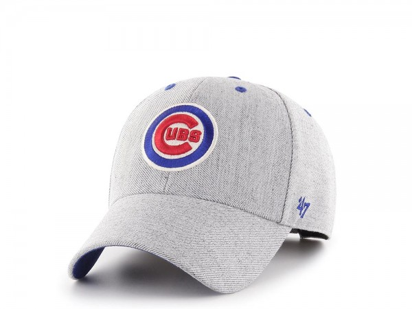47Brand Chicago Cubs Heather Edition MVP Strapback Cap