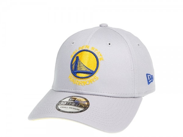 New Era Golden State Warriors Grey and Yellow Logo Stretch 39Thirty Cap