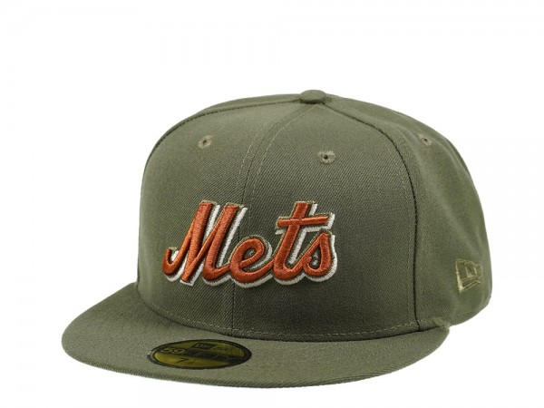 New Era New York Mets Olive Edition 59Fifty Fitted Cap