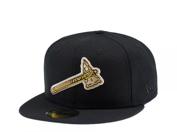 New Era Atlanta Braves Golden Tomahawk 59Fifty Fitted Cap