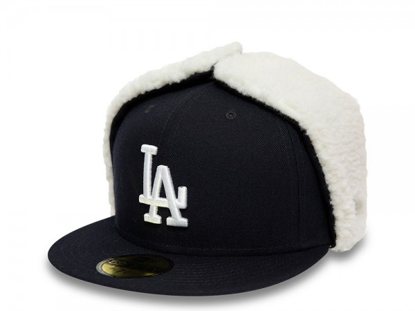 New Era Los Angeles Dodgers Black and White 59Fifty Fitted Winter Cap