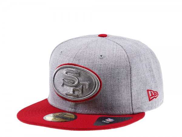 New Era San Francisco 49ers Heather Prime Edition 59Fifty Fitted Cap