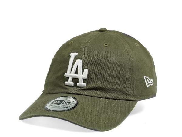 New Era Los Angeles Dodgers Casual Classic Olive Strapback Cap