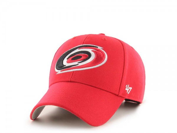47Brand Carolina Hurricanes MVP Red Strapback Cap