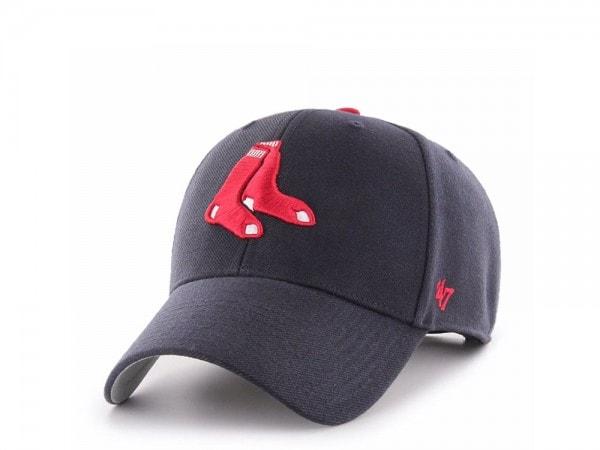 47Brand Boston Red Sox Deep Navy MVP Strapback Cap
