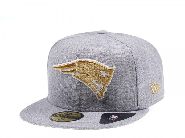 New Era New England Patriots Heather Gold Edition 59Fifty Fitted Cap