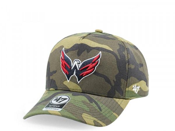 47Brand Washington Capitals Camo Grove MVP DT Snapback Cap