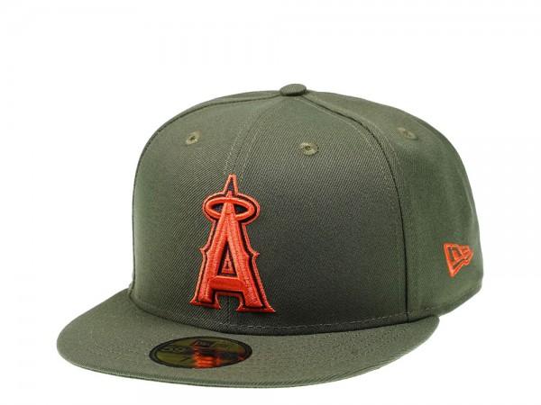 New Era Anaheim Angels Green x Orange Edition 59Fifty Fitted Cap