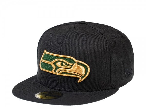 New Era Seattle Seahawks Green and Gold Edition 59Fifty Fitted Cap
