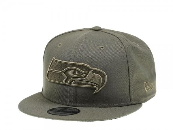 New Era Seattle Seahawks Olive Tonal 9Fifty Snapback Cap