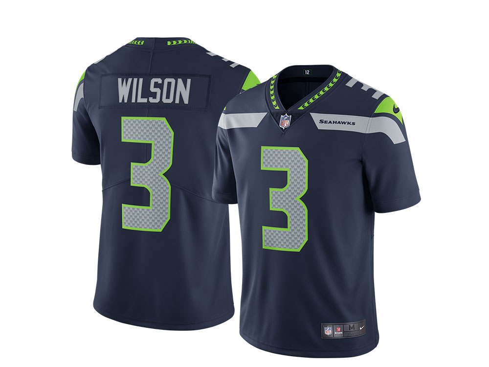 Nike Seattle Seahawks Russell Wilson Home Limited NFL Jersey