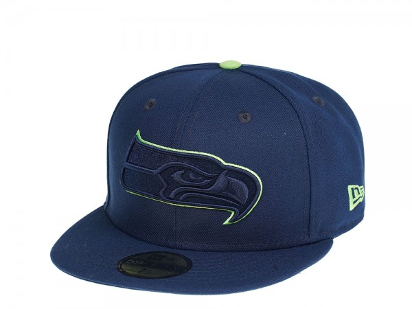 New Era Seattle Seahawks All Navy Edition 59Fifty Fitted Cap