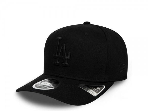 New Era Los Angeles Dodgers Black on Black 9Fifty Stretch Snapback Cap