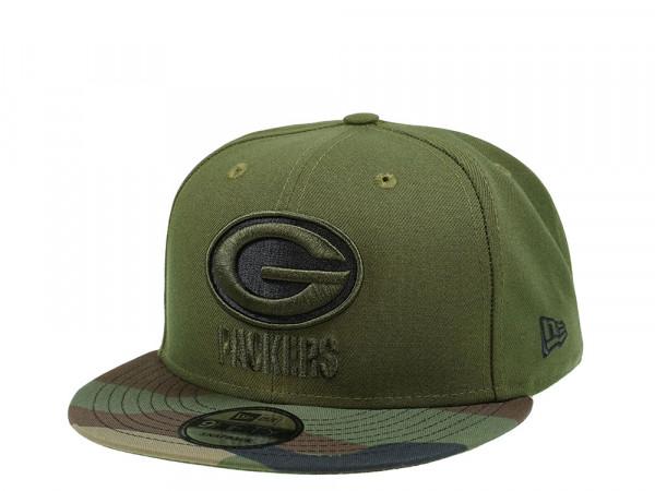 New Era Green Bay Packers Camo Two Tone 9Fifty Snapback Cap