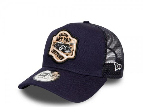 New Era Hot Rod Navy Trucker Snapback Cap