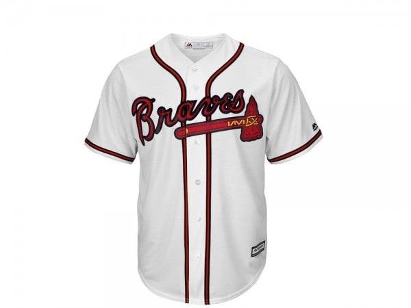 Majestic Atlanta Braves Base MLB Trikot weiss