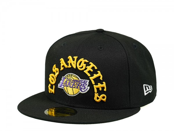 New Era Los Angeles Lakers Script Edition 59Fifty Fitted Cap