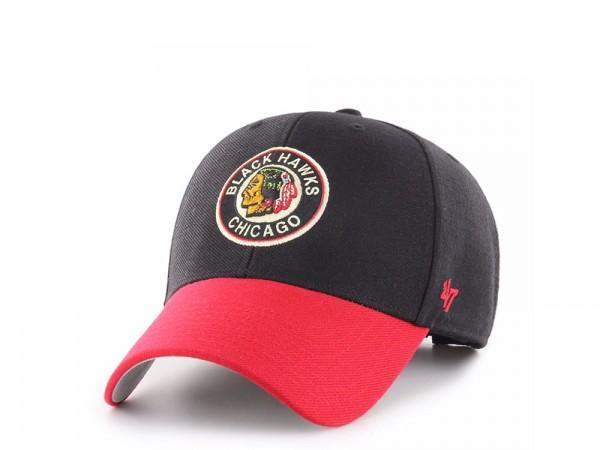 47Brand Chicago Blackhawks Vintage MVP Strapback Cap