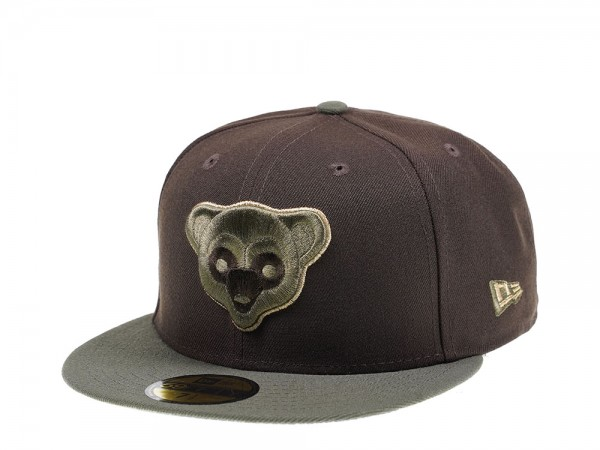 New Era Chicago Cubs Throwback Walnut Edition 59Fifty Fitted Cap