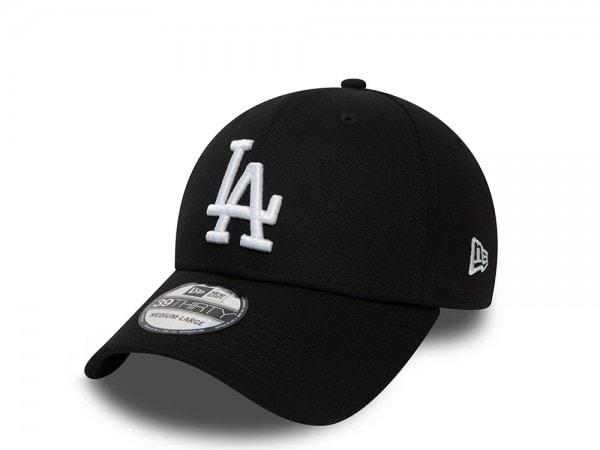 New Era Los Angeles Dodgers League Basic All Black Stretch Fit 39Thirty Cap