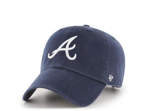 47Brand Atlanta Braves Clean Up Strapback Cap