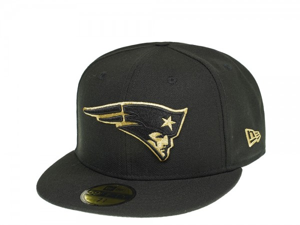 New Era New England Patriots All About Black and Gold 59Fifty Fitted Cap