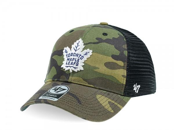 47Brand Toronto Maple Leafs MVP Camo Trucker Snapback Cap