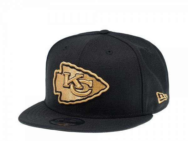 New Era Kansas City Chiefs All About Black and Gold 9Fifty Snapback Cap