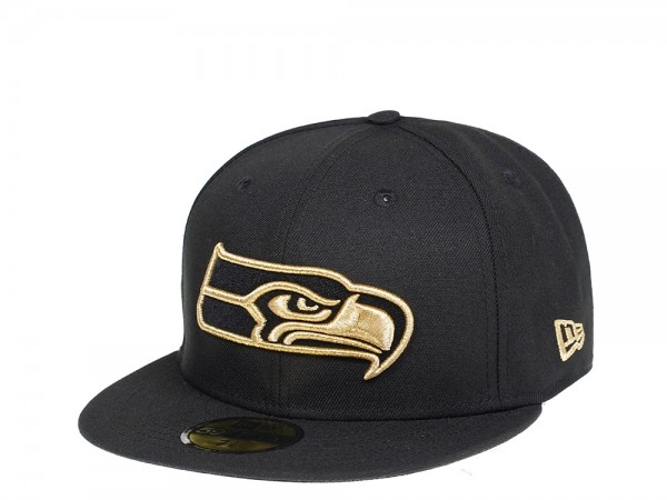 New Era Seattle Seahawks All About Black and Gold Edition 59Fifty Fitted Cap