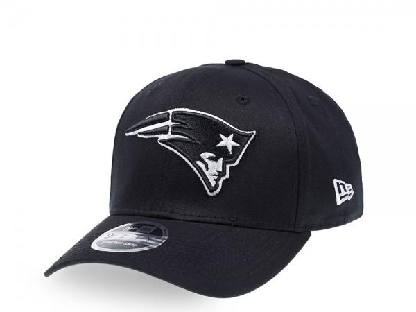 New Era New England Patriots Black and White Edition 9Fifty Stretch Snapback Cap