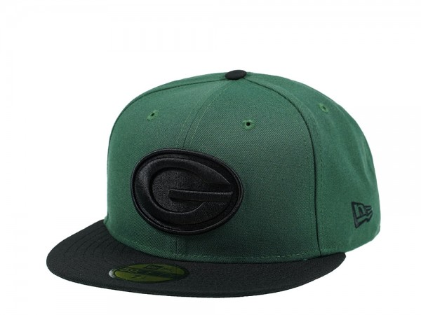 New Era Green Bay Packers All About Green and Black Edition 59Fifty Fitted Cap