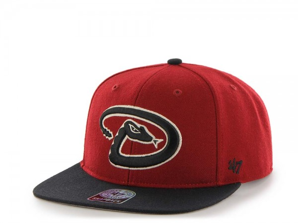 47Brand Arizona Diamondbacks Sure Shot Captain Two Tone Snapback Cap